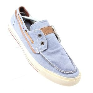 Tommy Hilfiger Blue Boat Loafers Mens Sz 11.5
